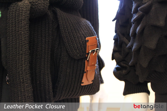 2 leather pocket clousure Sibling's AW11 Collection at London Fashion Week