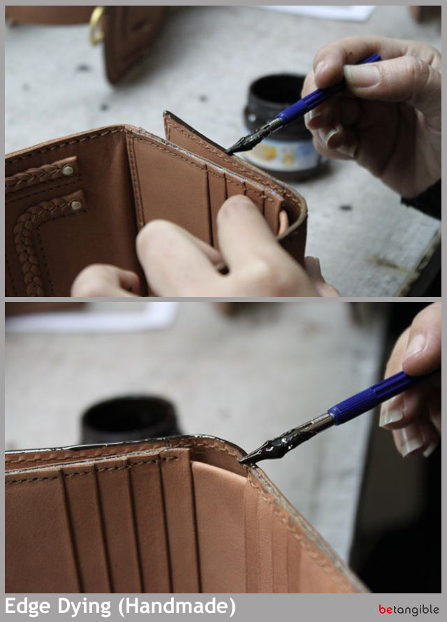 Edge dying handmade HOW TO make a leather item    Chapter 5: Edge Dying