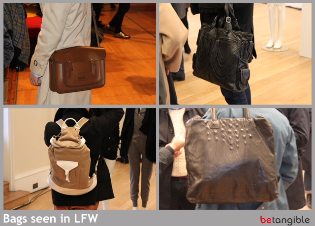 bags seen in LFW AS SEEN IN… London Fashion Week