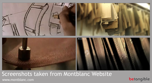screenshots taken from montblanc website Craftsmanship and Luxury Brands