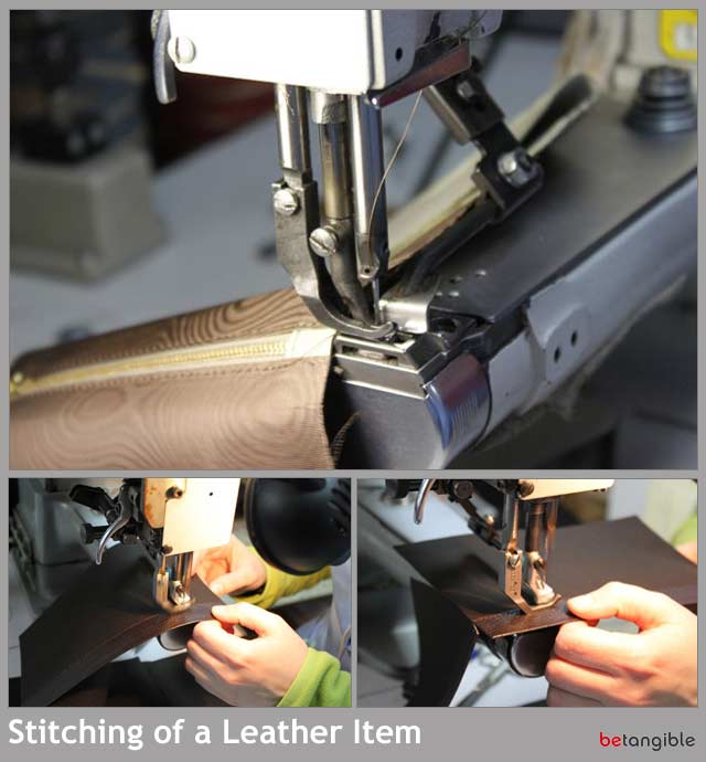 stitching of a leather item HOW TO make a leather item   Chapter 4: Assembly Process