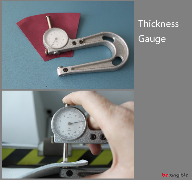 thickness gauge HOW TO make a Leather Item <br>Chapter 3: Leather Thinning