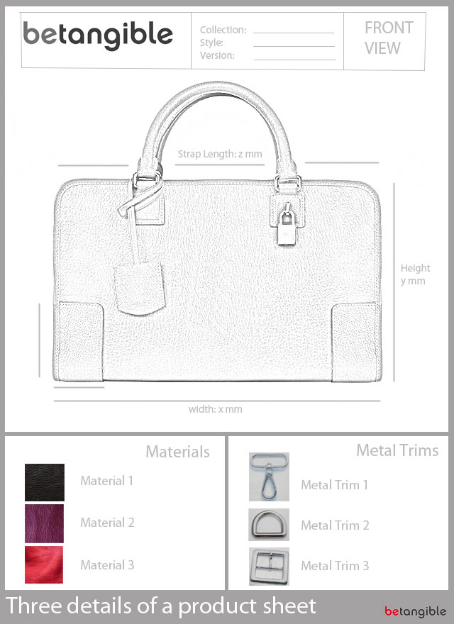 product sheet leather item Your idea expressed on a piece of paper… The Product Sheet