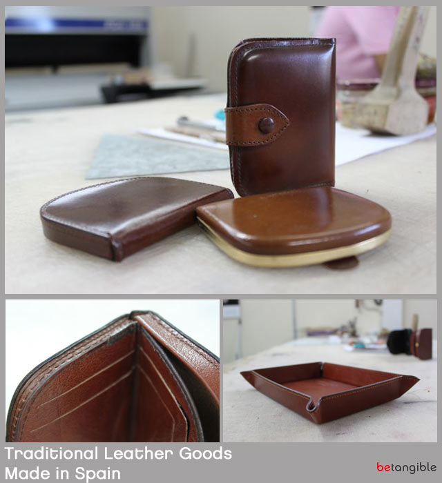 traditional leather goods made in spain Old and New merge to create both functional and up to date leather goods