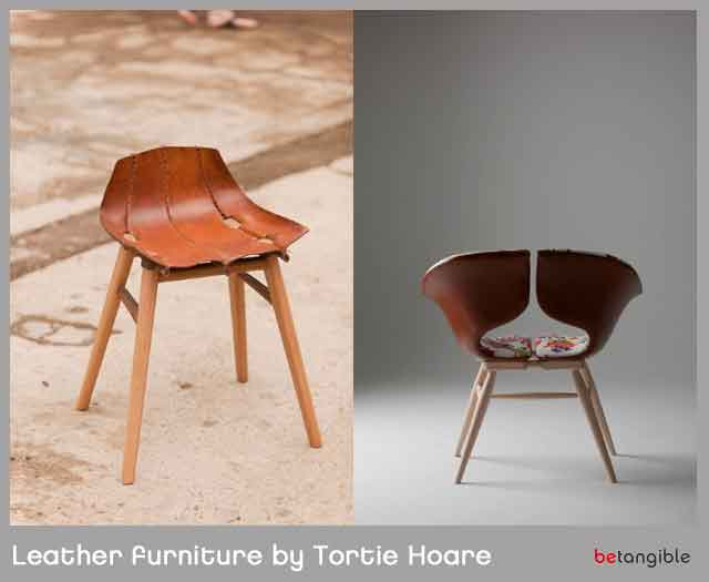 Shaped Boiled Leather Furniture by Tortie Hoare | Betangible B2B