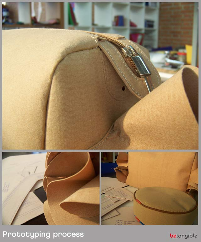 prototypig process 1 Prototyping and Sampling… A key phase for leather accessories designers