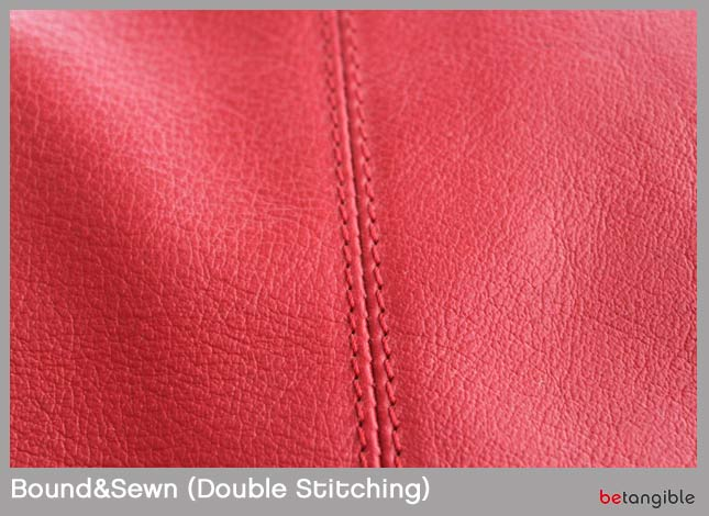 Bound sewn double leather stitching Types of Stitching… How to make a leather item