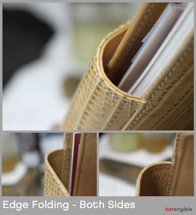 edge folding both sides leather Finishing Edges of Leather Goods