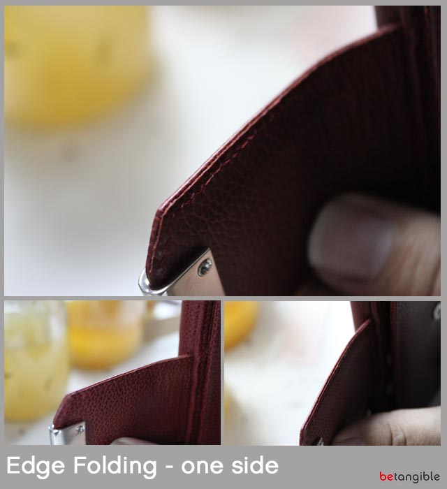 edge folding one side leather Finishing Edges of Leather Goods