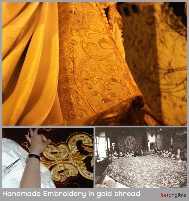 handmade embroidery in gold thread Traditional Guilds in Spain … Open Air Museums in Spring